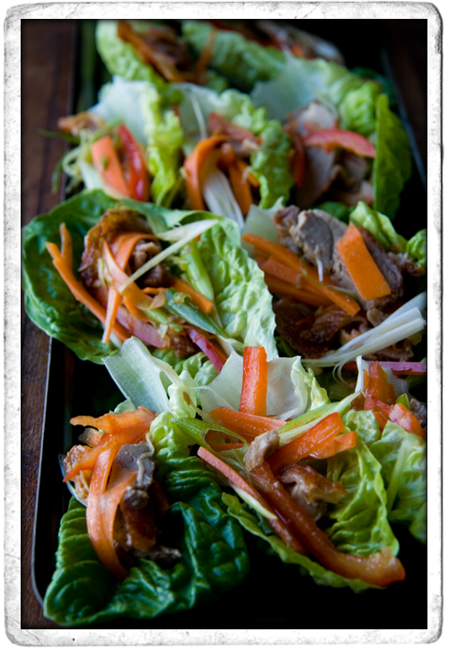 :: Mini Aromatic Duck Salads
