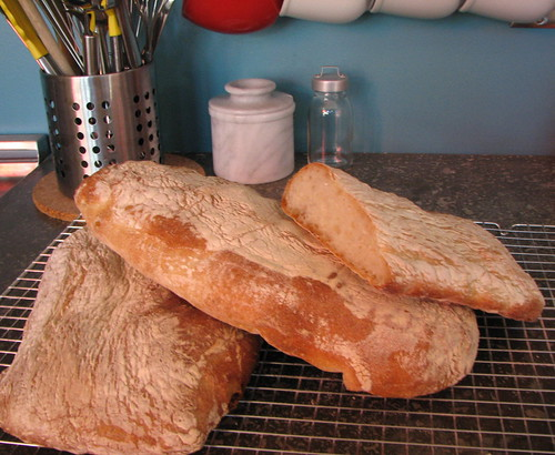 finished loaves of ciabatta