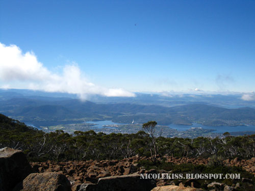 view of greater hobart from mount wellington