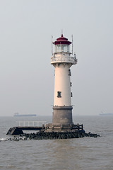 Lighthouse - 2008 Yangzi River (Point Images) Tags: china lighthouse water river shanghai transportation yangzi huangpu