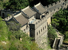 Mutianyu Pass, Great Wall of China (Kurlylox1) Tags: china towers steps beijing pass granite greatwall mutianyu merlons watchtowers threetowers crenels crennelated