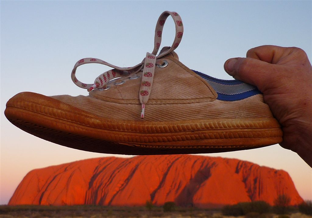 My Feet are the Same Size as Uluru!