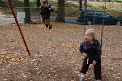 Jett and Wyatt at the park (penny cariolo) Tags: brood the cariolo