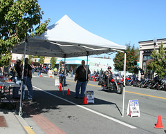 *crickets* (Librarianguish) Tags: leather motorcycles bikes chrome denim anacortes 909 bikers oysterrun notakers drivethroughblessing