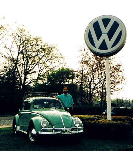 1963 VW with VW Lollipop Sign, 1995