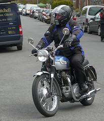 Triumph Twin (velton) Tags: show classic bike canon vintage lumix 300d scottish panasonic peebles motorcycle biker ayr veteran borders lothian autojumble fz18 velton fz200