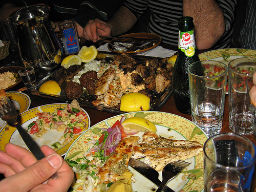 When dining in Greece, dont be greedy!!  Sharing food is a common practice.