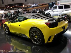 SIRACUSA by Mansory - 458 italia rendition (alexsmolik) Tags: auto mars cars car yellow by march automobile italia geneva autoshow ferrari voiture giallo coche syracusa cyr