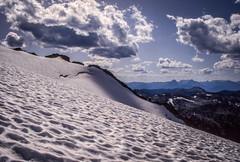 Traversing Kokanee Glacier (Chris (Midland05)) Tags: mountain canada mountains hiking britishcolumbia alpine kootenay kokaneeglacier fujichromevelvia pentaxlife pentaxpz1