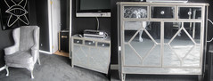 "4168 DIAMOND PATTERNED MIRRORED NIGHTSTAND • <a style=""font-size:0.8em;"" href=""http://www.flickr.com/photos/43749930@N04/5813483616/"" target=""_blank"">View on Flickr</a>"