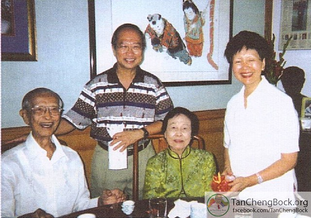 Dr Tan Cheng Bock with Singapore Presidents