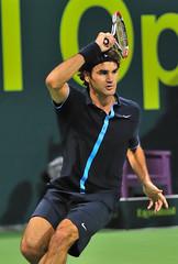 Roger Federer (Ashraf Khunduqji) Tags: sport nikon action tennis roger federer doha qatar 70200mm d300 exxonmobil