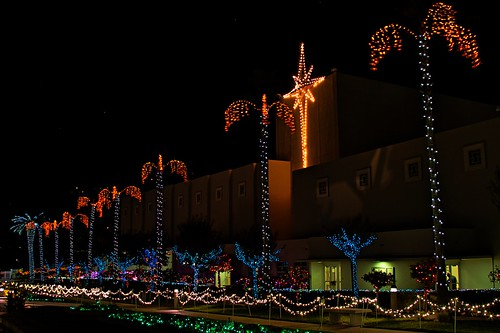 Christmas Lights at Oakland Hills Temple