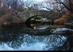 Morning reflections (Tattooed JJ) Tags: nyc blue ny pentax centralpark manhattan jjp gapstow coldreflections k200d