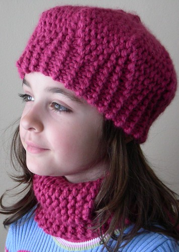 maia in pink hat and neck warmer