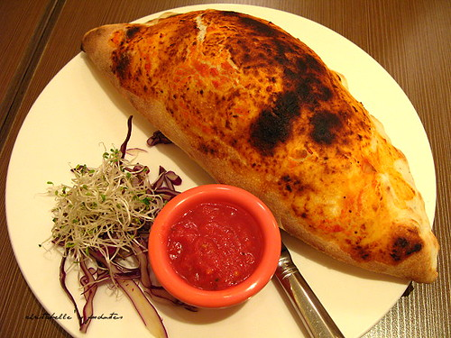 la pizza 火腿磨菇餃子披薩