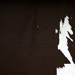 Shocked (daliborlev) Tags: abstract texture contrast square urbandecay minimal brno surprise shock surprised minimalism mundanedetail 500x500 humanface tornpaper