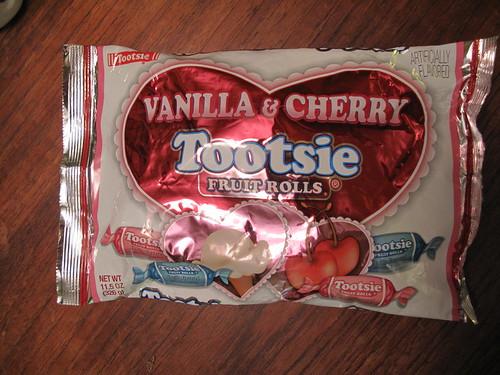 Vanilla & Cherry Tootsie Fruit Rolls