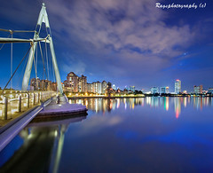 Singapore Skyline....after the hic ;-) (Ragstatic) Tags: city longexposure travel bridge light people holiday color reflection tourism metal architecture composition buildings reflections river relax concrete lights design photo google search nikon singapore asia exposure view nocturnal nightshot heart rags steel perspective culture visit tourist calm explore photograph dreams destination serene cbd fp nocturne dri singapura centralbusinessdistrict singaporeriver waterscape singaporecityscape kallang fp3 uniquelysingapore d700 singaporelandscape singaporeview singaporeseascape
