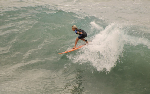 Surfing Cyclone Hamish