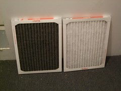 new old apartment dirty clean furnace comparison 3m hvac airfilter