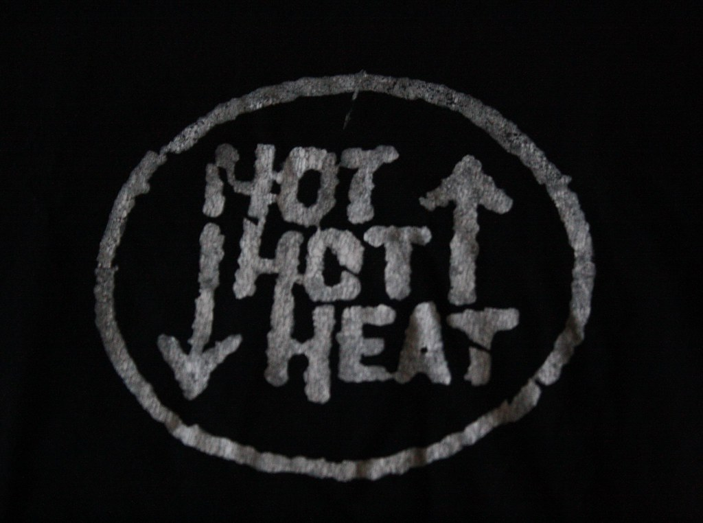 Hot Hot Heat shirt (detail)