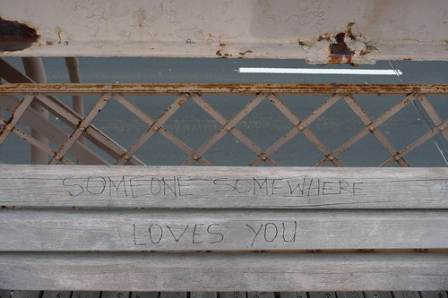 someone somewhere loves you