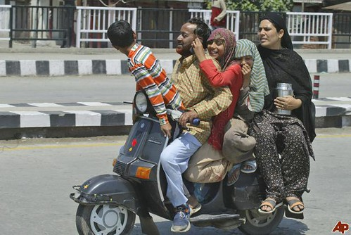 Kashmiri family on Scooter
