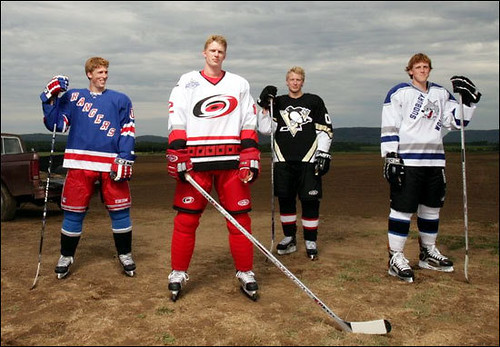 Staal brothers on the farm