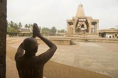 Salute the Gods-Brihadishwara temple-Thanjavur (sanjayausta) Tags: world india tower heritage monument architecture religious temple 1 asia place indian south unesco kings granite gods thanjavur hindu hinduism tamil raja dynasty sanjay sites nadu chola austa gopurams brihadeeshwara rajarajeshwaram