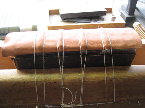 Attaching a leather lining