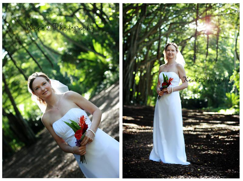 T & B: a beautiful bride in a banyon grove