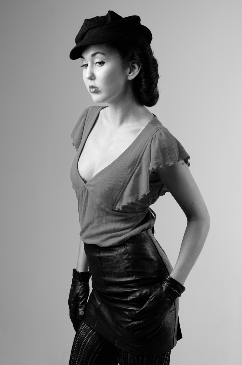 Studio Fashion Black and White Photography