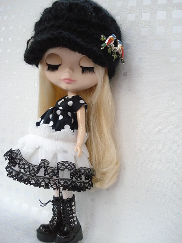 Black and white Ruffles by polly-jane.