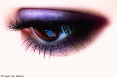 Eh..  Eyes (Poe Tatum) Tags: brown eye eyelashes violet makeup browneyes eyeshadow blueribbonwinner