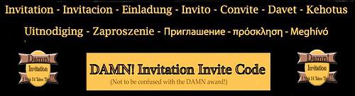 Damn Invite Banner
