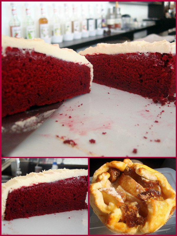 Peach Fig Tart & Red Velvet