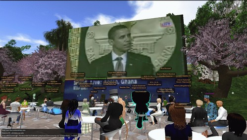 Obama's Ghana speech in Second Life