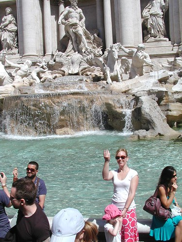 Erica at the Trevi Fountain
