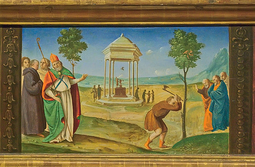 Tempera and oil on panel, predella of Saint Nicholas, by Piero di Cosimo, ca. 1481-1485, at the Saint Louis Art Museum, in Saint Louis, Missouri, USA