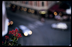 (patrickjoust) Tags: street leica city flowers red urban color cars film oslo norway analog zeiss 35mm lens ed 50mm prime norge nikon focus europa europe flickr fuji open with mechanical bokeh scanner balcony wide patrick rangefinder slide v chrome adapter positive manual m3 50 expired joust 35 fujichrome range finder e6 wetzlar astia f15 100f sonnar reversal leitz opton terrascania autaut zeisscsonnar50mmf15 patrickjoust