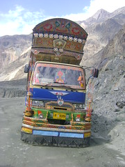 Passing a truck Karakoram Highway