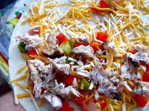 uncooked quesadilla