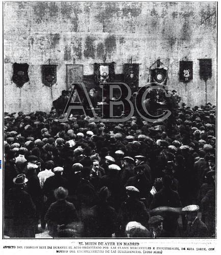 Mitin y manifestación (1916-01-10)