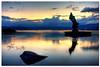 Yaegakihime (TheJbot) Tags: sunset sky lake reflection water statue rock japan clouds scum hdr breathtaking jbot suwa breathtakinggoldaward yaegakihime