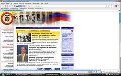 Página del Senado de la República de Colombia