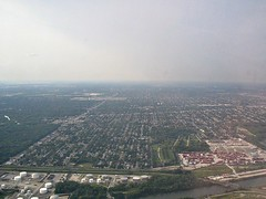 Looking north with Harlem Ave to the left (debstromquist) Tags: cemeteries flying illinois riverside canals il berwyn southwestairlines lyons mountauburncemetery harlemave forestpreserves forestview sanitaryshipcanal gasolinestoragetanks lakeriverterminal