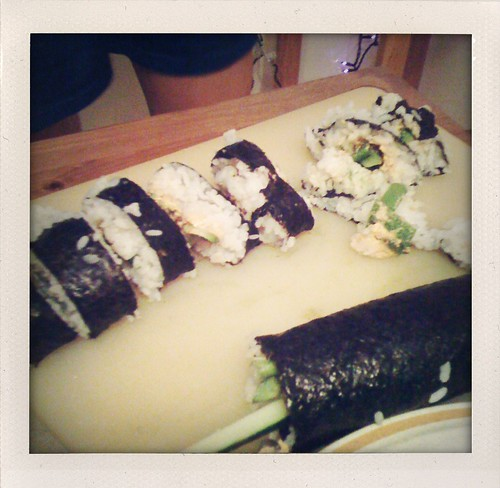 our first maki roll ever