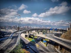 Autopistas  -  Highway (Pablo Alberto) Tags: chile city santiago ruta carretera estrada autopista hdr pirámide rodovia viadutos vías lascondes autopistas latinomerica lovelycity