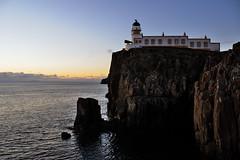 Neist Point lighthouse in the gloaming, Isle of Skye, Scotland (iancowe) Tags: sunset sea lighthouse skye point scotland scottish stevenson minch isle hebrides gloaming neist mywinners